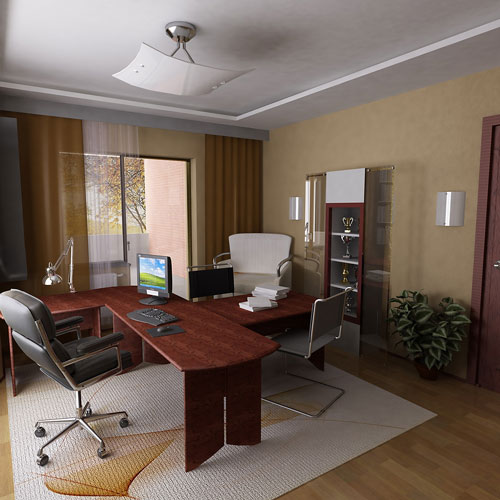 Contemporary office furniture photo contemporary home office for Contemporary home office furniture