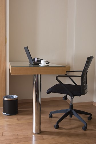 modern study space with chair and desk
